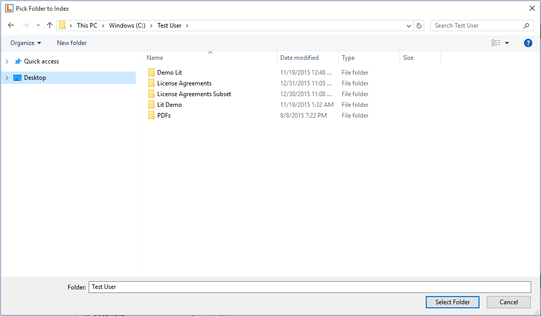 Lexprompt WRITE adding folders to process at control panel